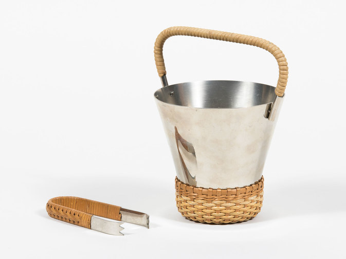 Carl Auböck Ice Bucket with Tongs, image 2