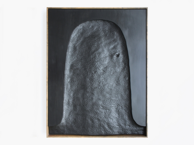 "Julian Watts ""Black Painting (Shroud)"", image 1"