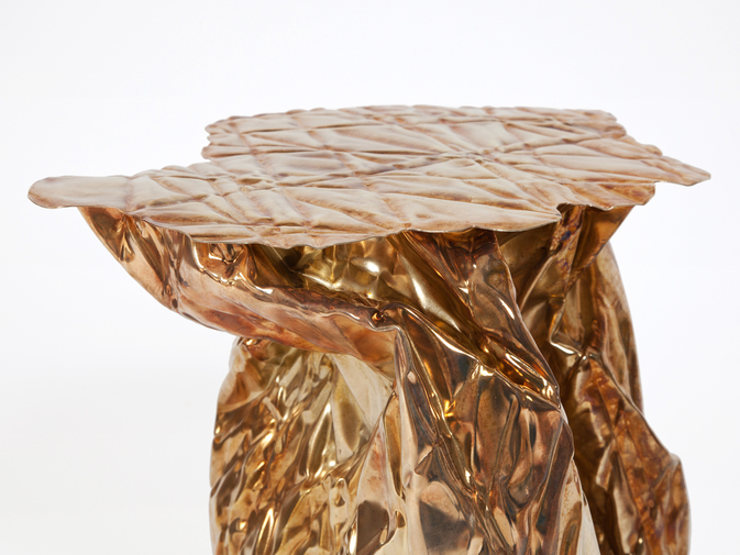 Christopher Prinz Wrinkled Side Table, image 3