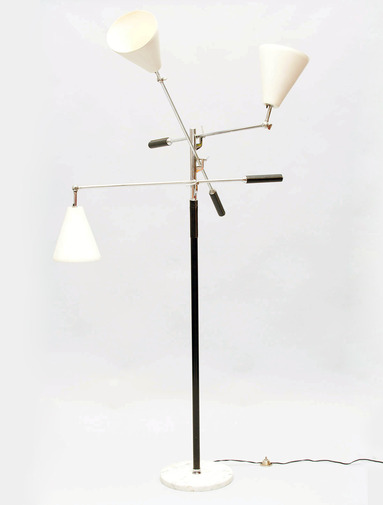 Patrick parrish collection arredoluce 3 arm floor lamp for Livorno 3 way floor lamp