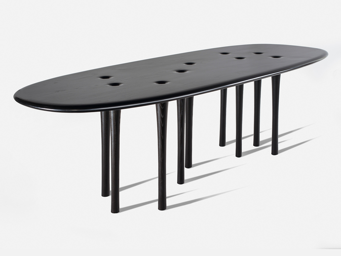 "Christopher Kurtz ""Inverness"" Dining Table, image 1"