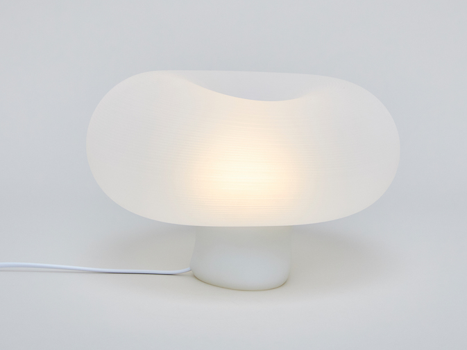 Self-Assembly Lab, MIT + Christophe Guberan Liquid-Printed Table Light, image 2