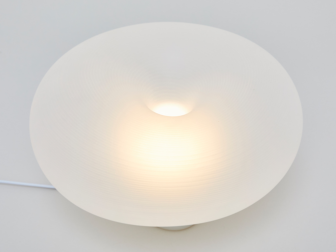 Self-Assembly Lab, MIT + Christophe Guberan Liquid-Printed Table Light, image 3