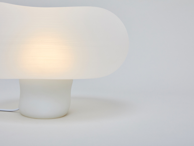 Self-Assembly Lab, MIT + Christophe Guberan Liquid-Printed Table Light, image 4