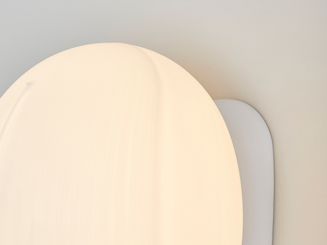 Self-Assembly Lab, MIT + Christophe Guberan Liquid-Printed Wall Light, image 2