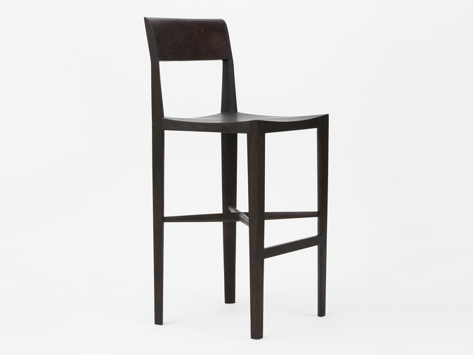 "Christopher Kurtz ""Quarter Round Counter Stool (With Backrest)"", image 1"