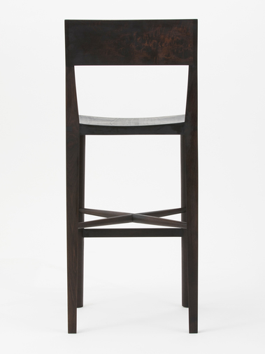 "Christopher Kurtz ""Quarter Round Counter Stool (With Backrest)"", image 3"