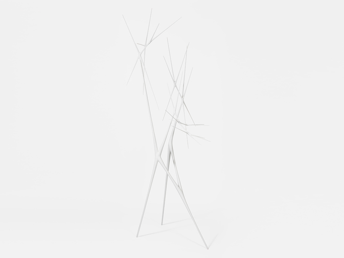 "Christopher Kurtz ""Untitled #15 (White Standing Sculpture), image 1"