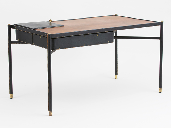 Jacques Adnet Leather Writing Desk, image 2