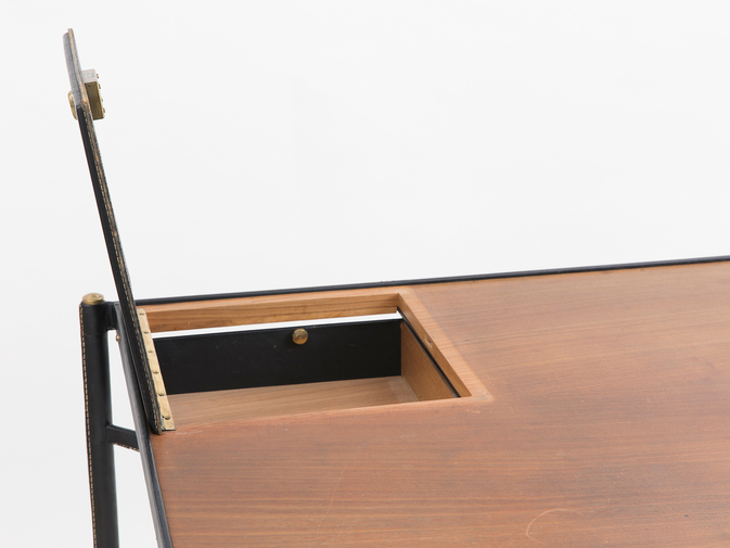 Jacques Adnet Leather Writing Desk, image 5