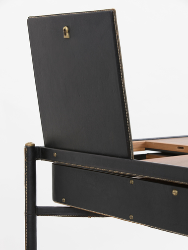 Jacques Adnet Leather Writing Desk, image 8
