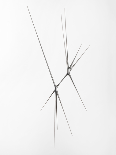 "Christopher Kurtz ""Untitled #9 (Graphite Suspended Sculpture), image 1"