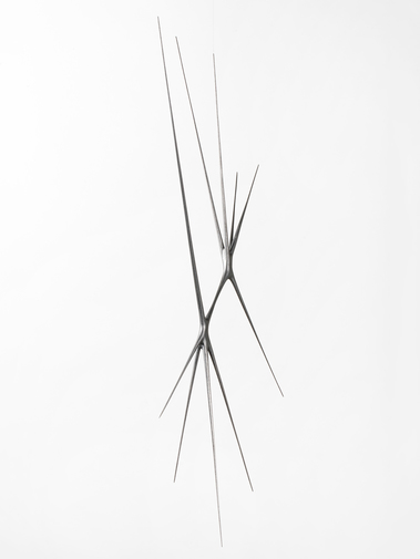 "Christopher Kurtz ""Untitled #9 (Graphite Suspended Sculpture), image 2"