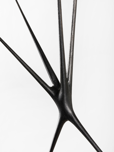 "Christopher Kurtz ""Untitled #9 (Graphite Suspended Sculpture), image 3"