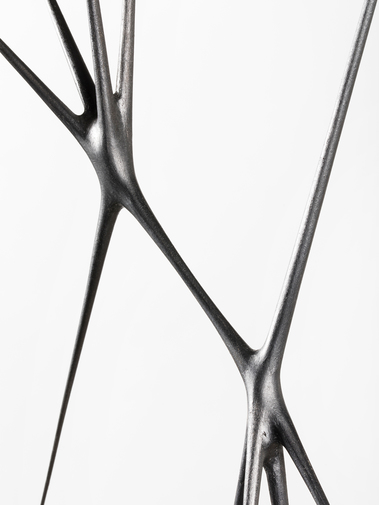 "Christopher Kurtz ""Untitled #9 (Graphite Suspended Sculpture), image 4"