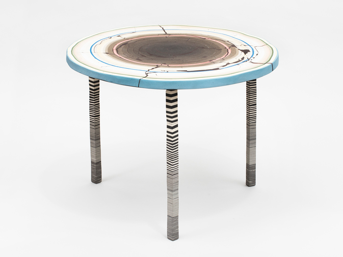 "Cody Hoyt ""Flat Earth"" Table, image 1"