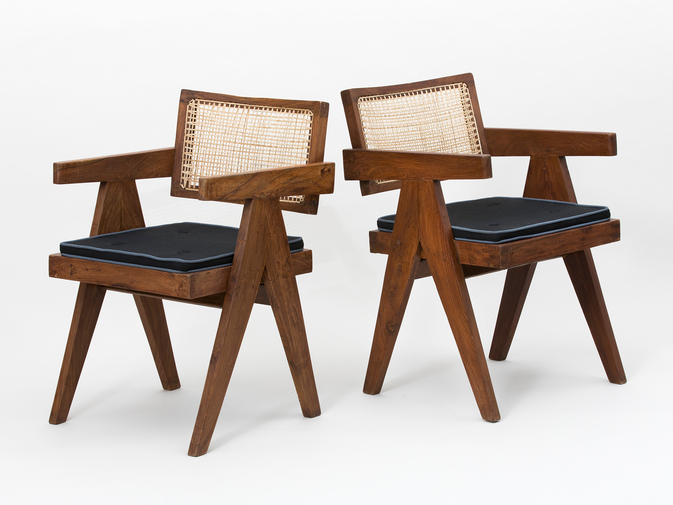 Pierre Jeanneret Set of Floating Back Armchairs, image 5