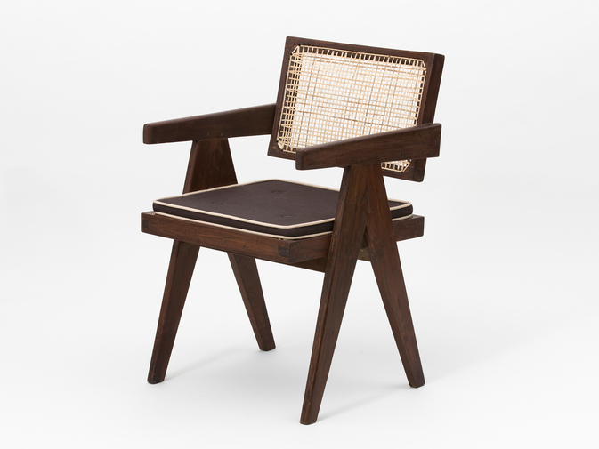 Pierre Jeanneret Floating Back Armchair, image 1
