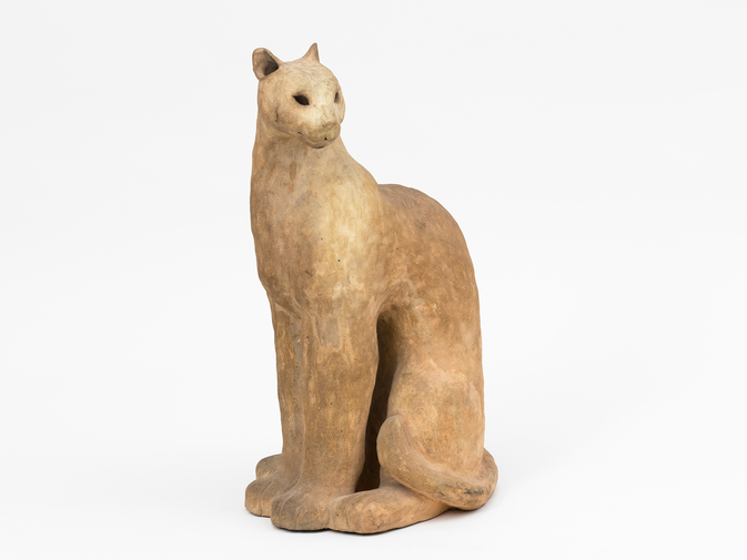 Ceramic Cat Sculpture, image 1