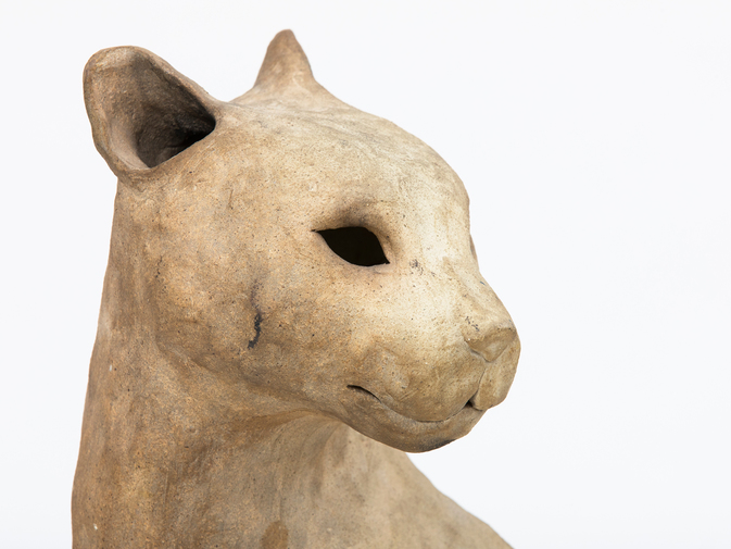 Ceramic Cat Sculpture, image 2