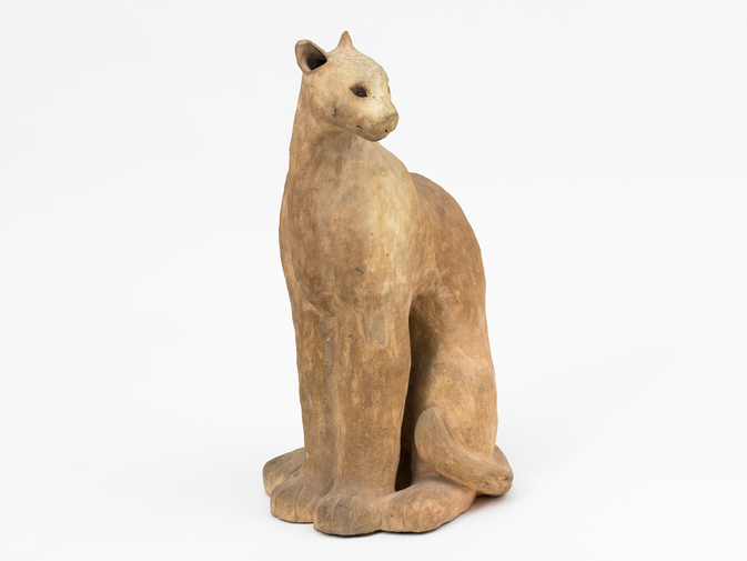 Ceramic Cat Sculpture, image 6