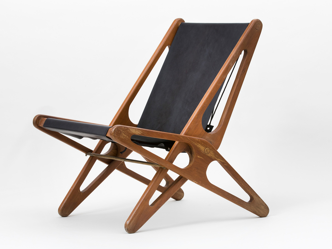 Ficks Reed Leather Folding Chairs , image 3