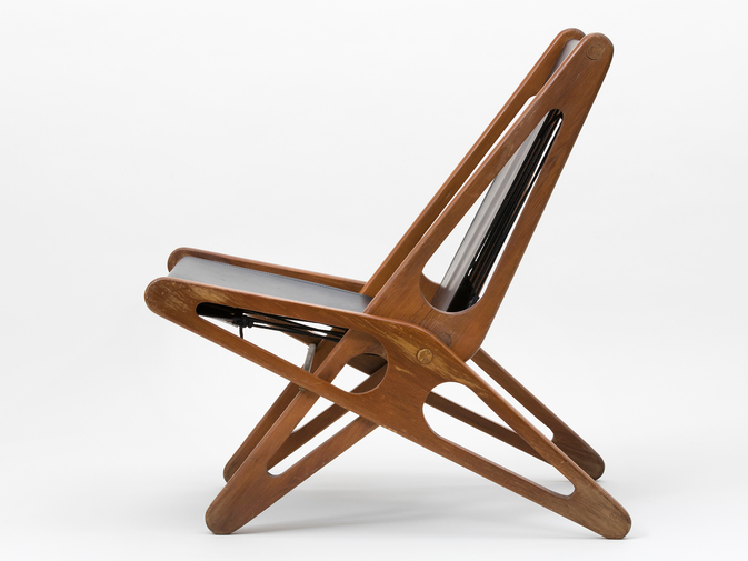Ficks Reed Leather Folding Chairs , image 4