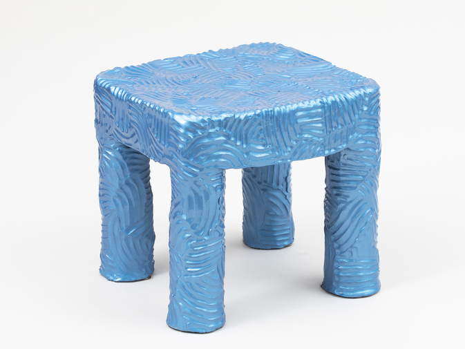 Chris Wolston Blue Side Table, image 1