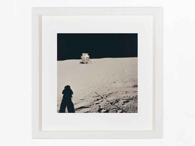 Vintage NASA Photograph of the Apollo 11 Moon Landing, image 1