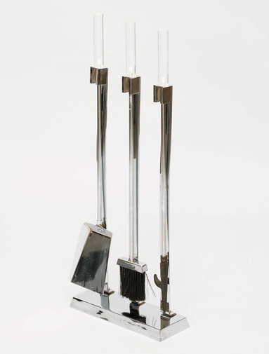 Lucite and Chrome Fire Tools, image 3