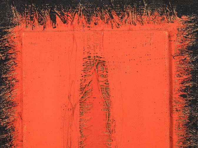 Hanna Eshel Untitled 6 - Double Collage Rouge, image 2
