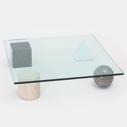 Tile vignelli marble coffee table patrick parrish thumb