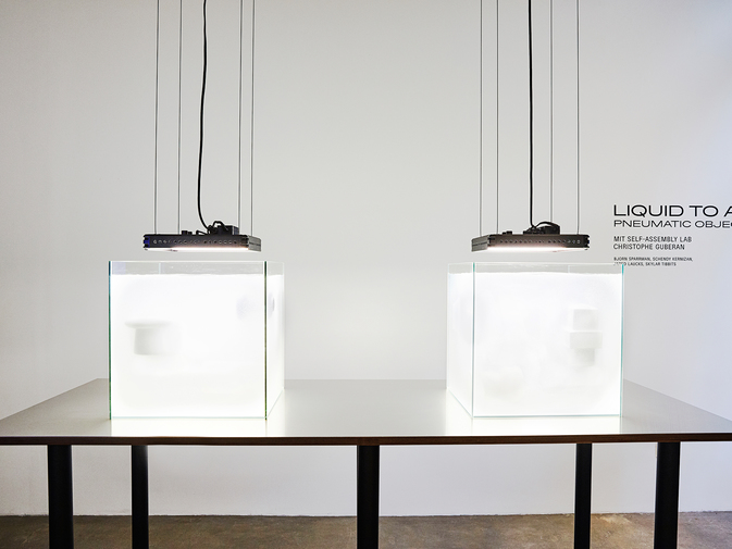 Self-Assembly Lab, MIT + Christophe Guberan, Liquid to Air: Pneumatic Objects, image 3